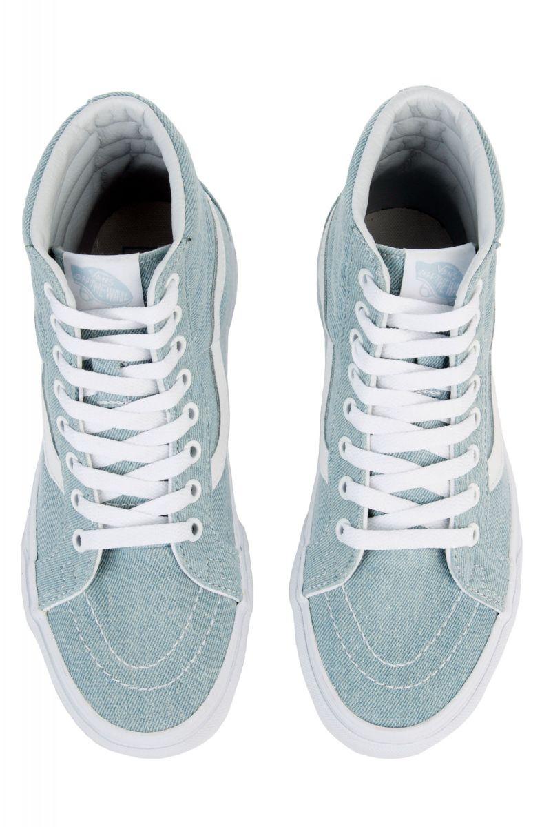 Vans Sneaker Women S Sk8 Hi Reissue Denim Baby Blue