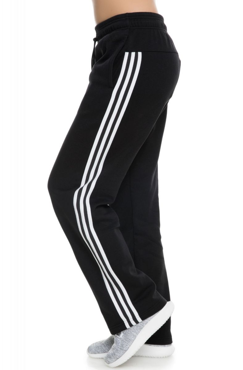 6cae53b2d50 Adidas Sweatpants Women s CO FL 3 Stripes Open Hem Pant Black White