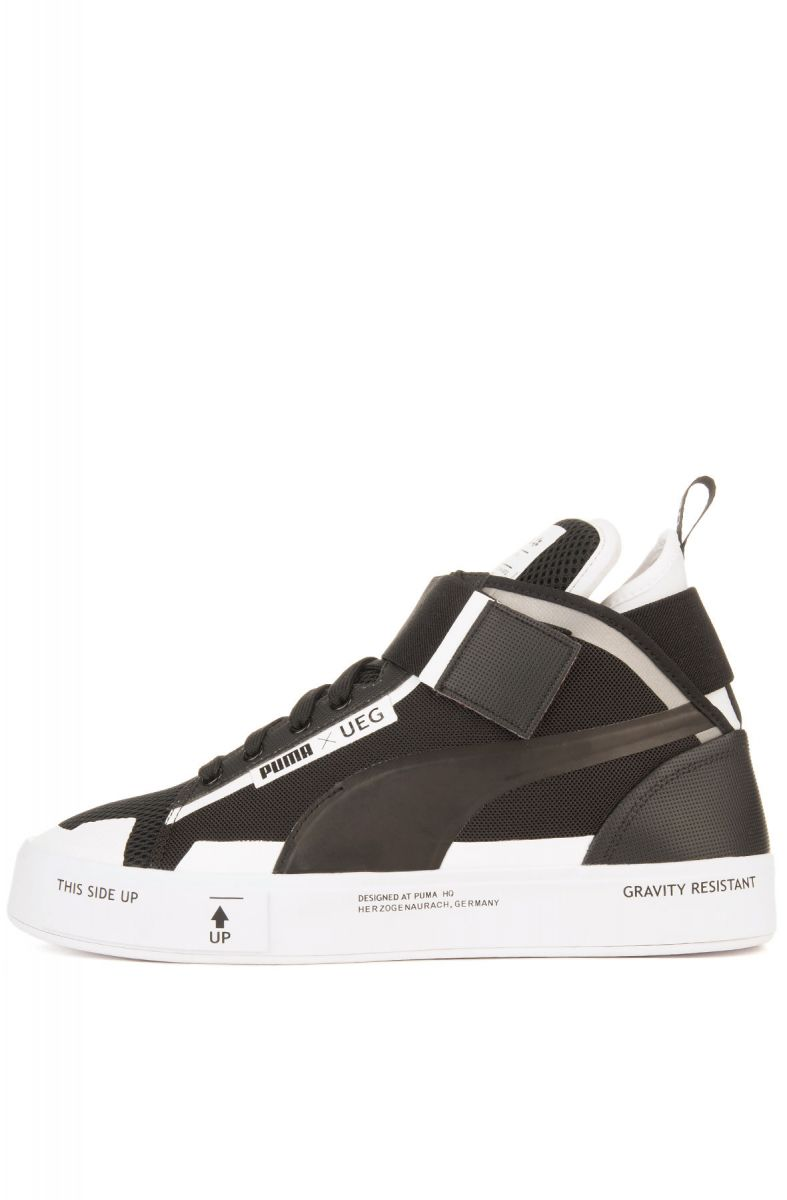 492d61f6a30 The Puma x UEG Court Play Sneaker in Puma Black and White ...