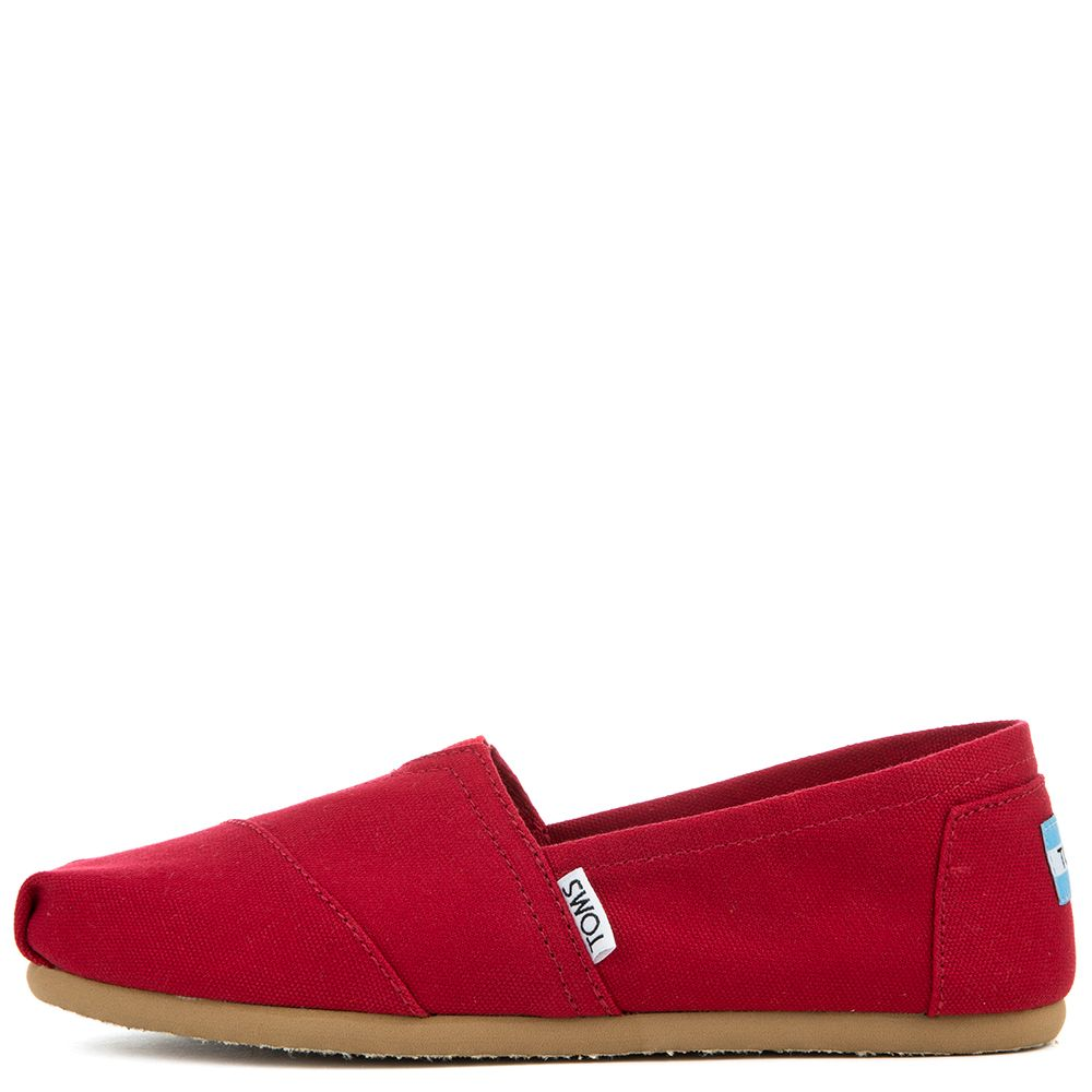 Toms Classic Red Canvas Women's Flats