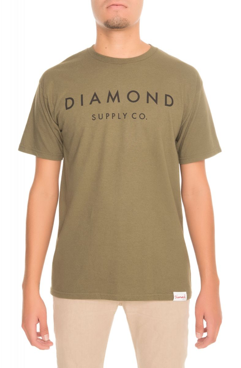 0045aa4268a Diamond Supply Co. Tee Stone Cut Military Green