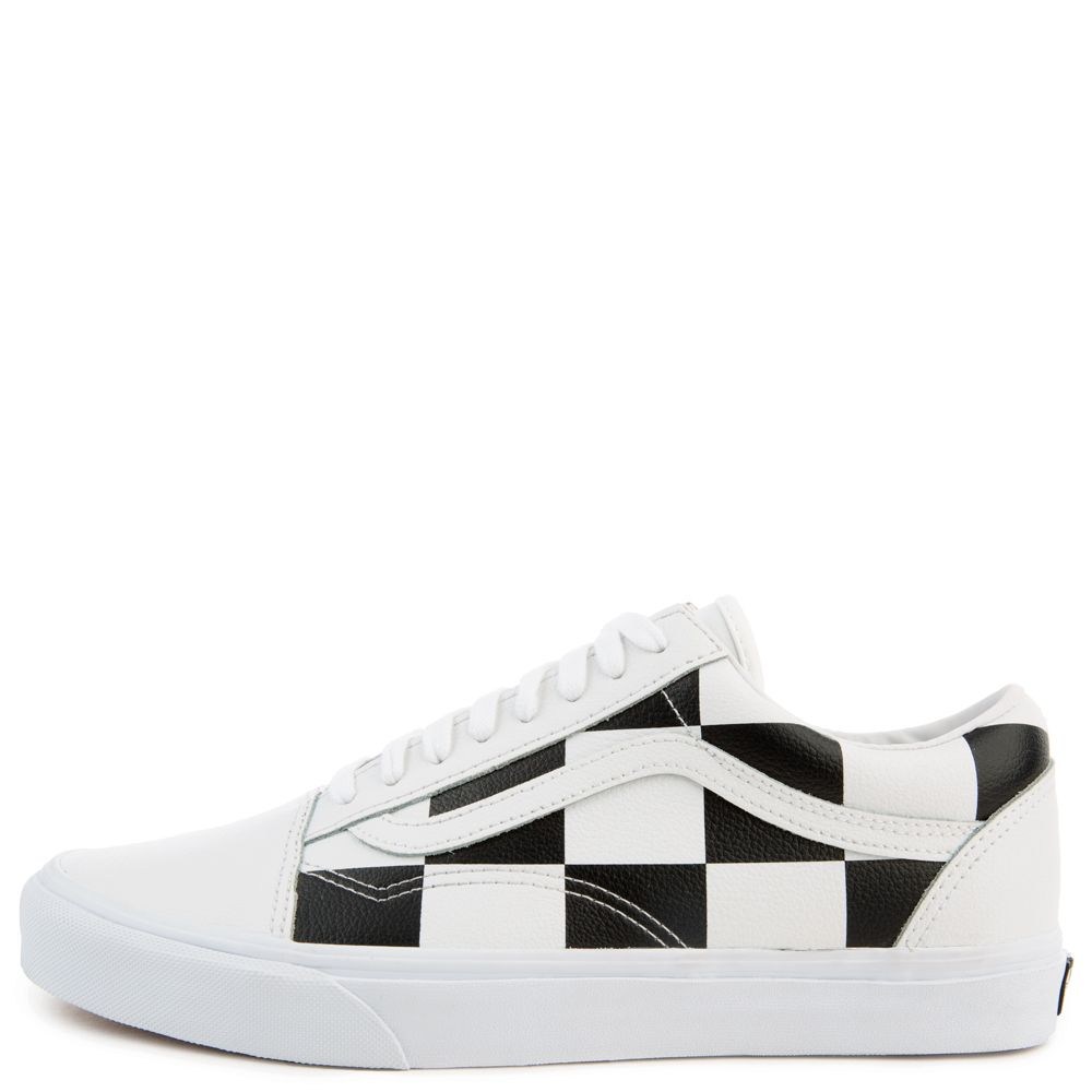 Leather Checkerboard Old Skool