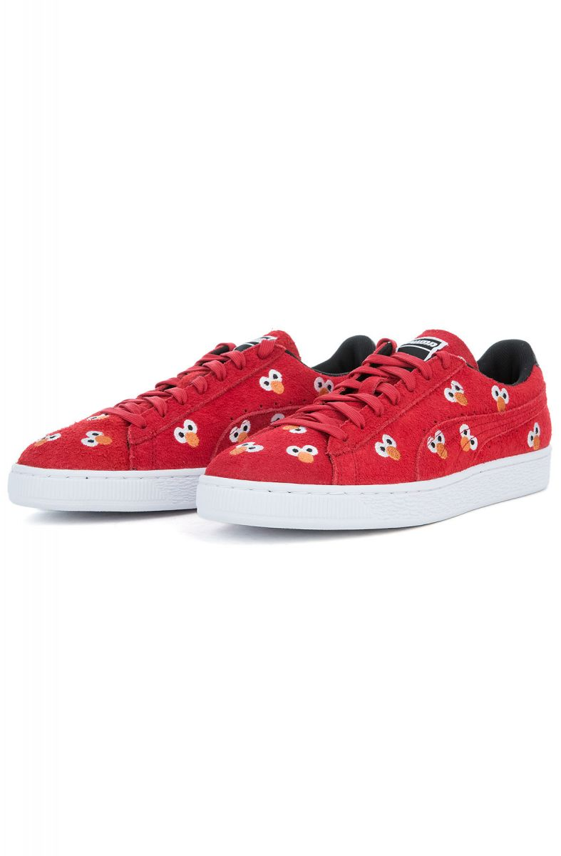 2b2049f3d8e The Puma x Sesame Street Suede Sneaker in High Risk Red
