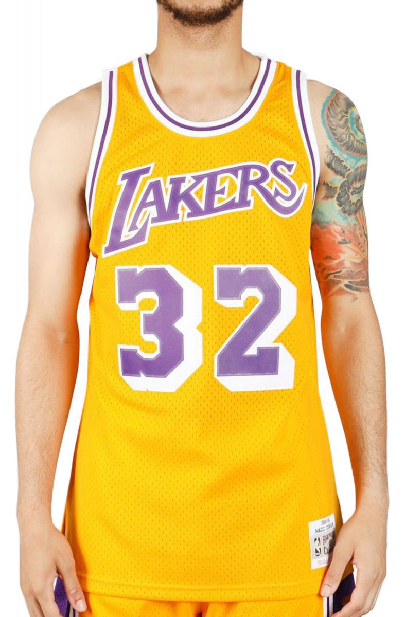 the best attitude 0021a 01410 Men's Lakers Magic Johnson Jersey