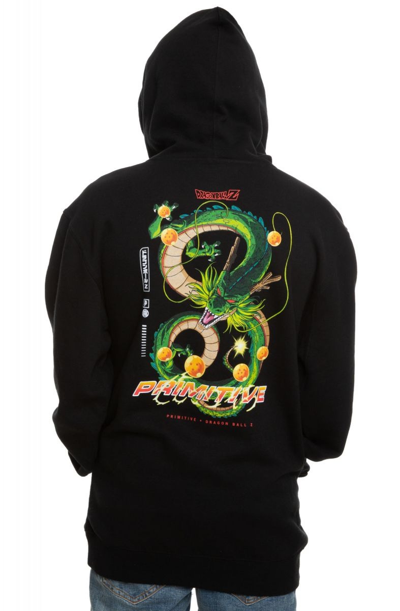 05250410 Shenron Dirty P Hoodie in Black