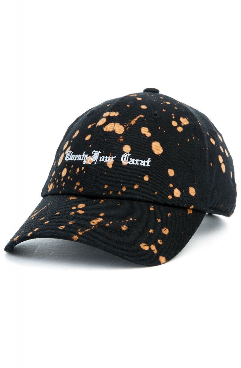 91a32f8ad93 The Old English Bleach Dad Cap in Black