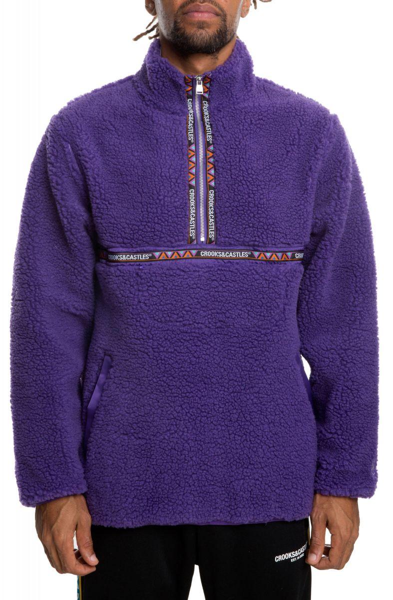 4f9b37e15c01 The Crooks Sherpa Mountain Fleece in Purple