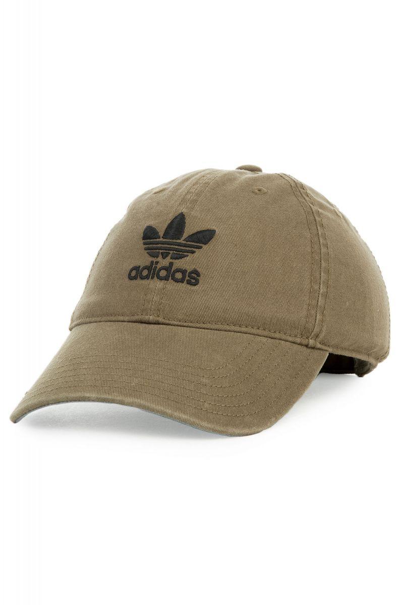 c9dc804de94 adidas Hat Women s Originals Relaxed Strapback Olive Cargo Green
