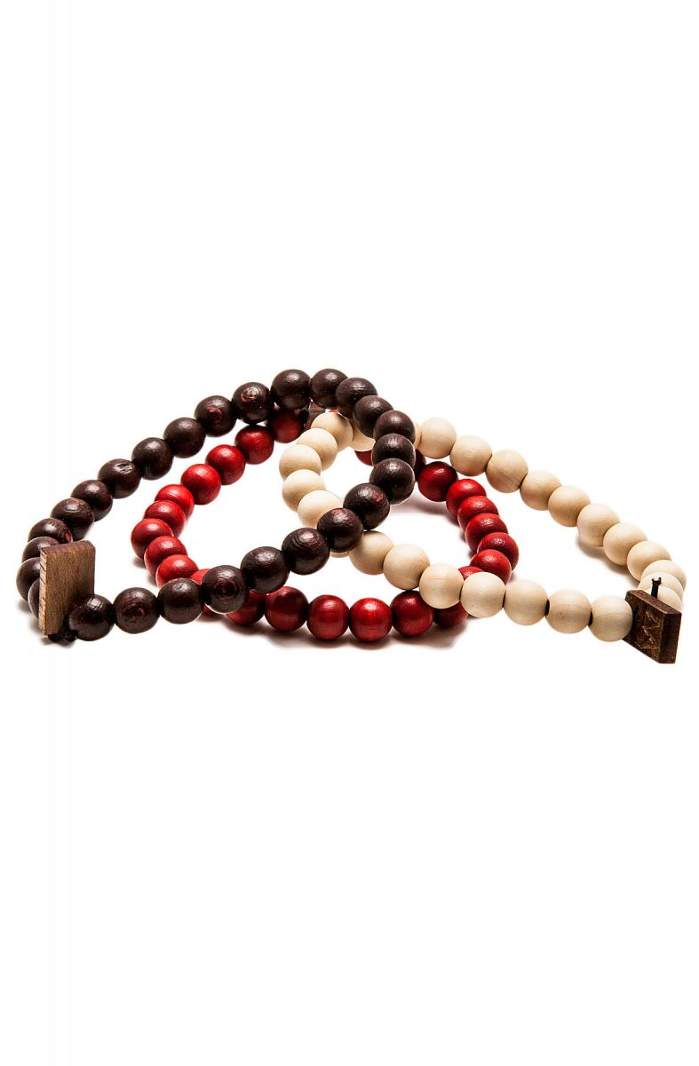 The Gw Bracelet 3 Pack In Natural Red Brown