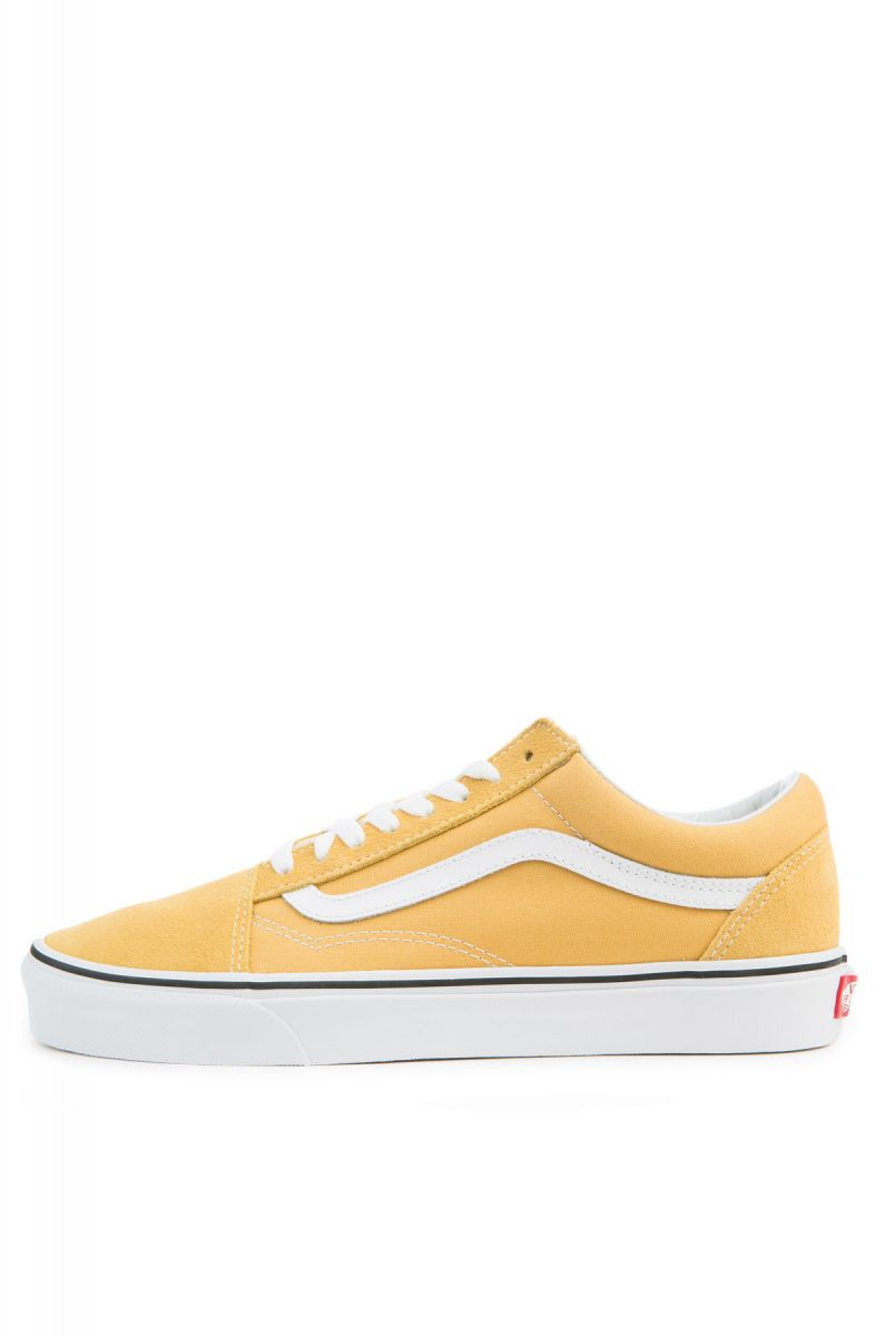 vans old skool ochre true white