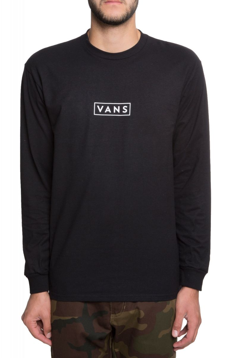 d58eb201f046 The Vans Easy Box Long Sleeve in Black and White