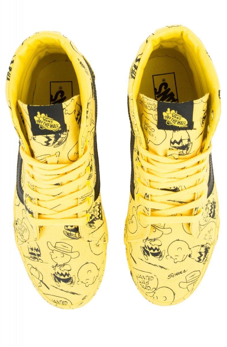 The Vans x Peanut Sk8 Hi Reissue Charlie Brown in Maize de75eec6e