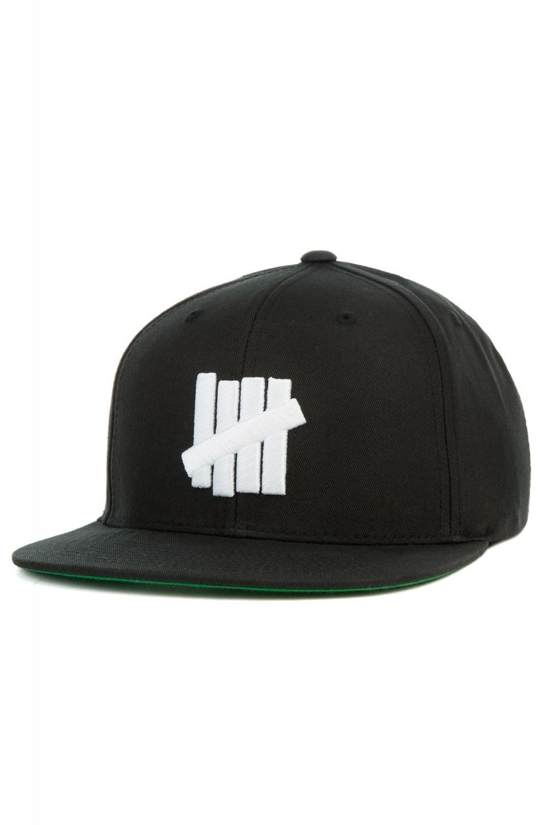 942e33523672f Undefeated Cap 5 Strike Snapback Black