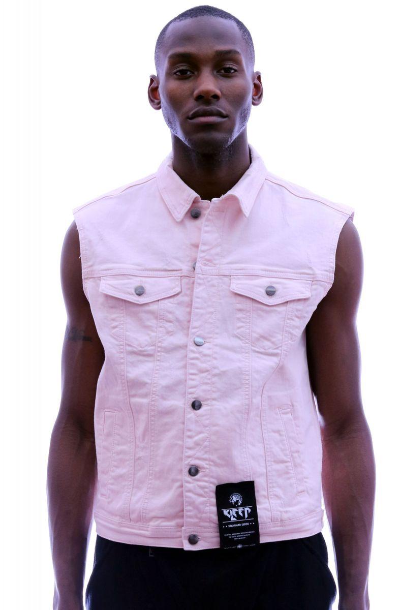 554eeb0275e Kleep men s light washed cotton lycra twill biker inspired vest jacket