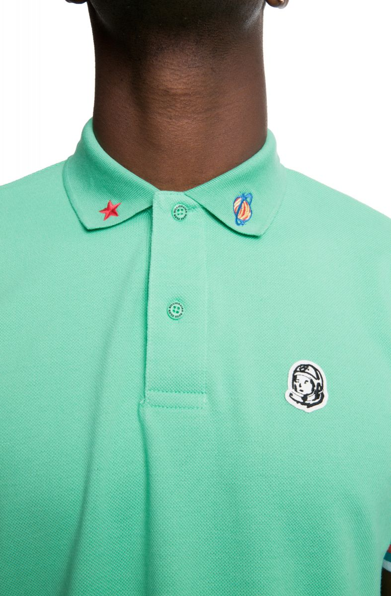 Billionaire Boys Club 3rd Eye Short Sleeve Polo in Jade Cream /& White 891-3310