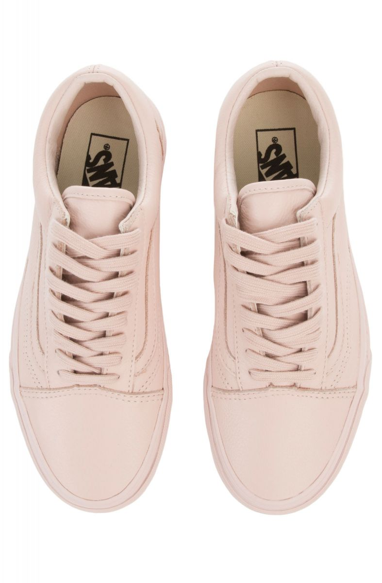 54f8e2c335f26b ... The Unisex Old Skool in Leather Mono and Sepia Rose ...