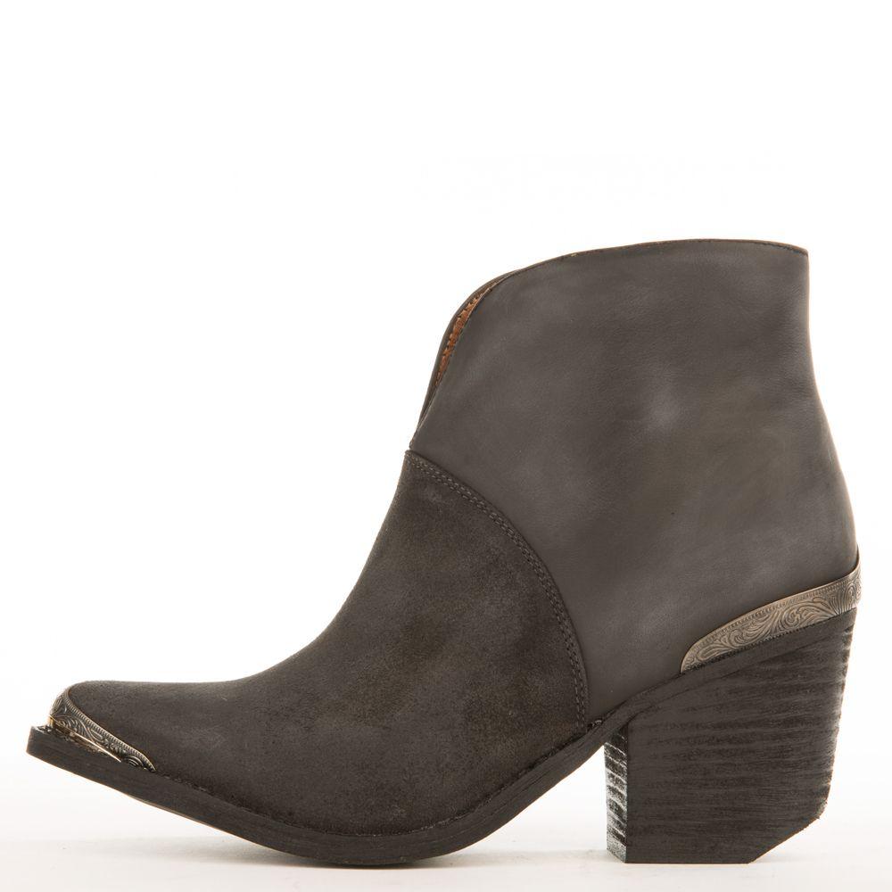 buy online 9301e 68573 Jeffrey Campbell for Women: Cahuenga Dark Grey Western Booties