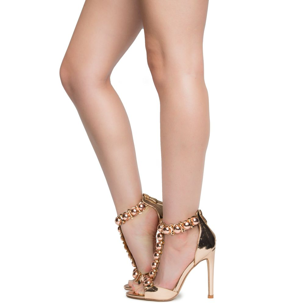 various colors sold worldwide new high Cape Robbin Alza-40 Women's Rose Gold High Heel