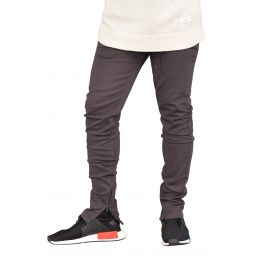 The Rich V.4 Joggers W/ Ankle Zip In Charcoal by Seize&Amp;Desist