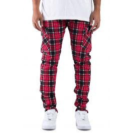 The Union Ramone Plaid Cargo Pants In Lumber Jack Red by Golden Denim