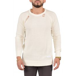 Drop Needle Sweater In Bone by Seize&Amp;Desist
