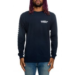 The Crossed Sticks Long Sleeve In Navy by Vans