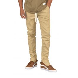 The Rich V4 Joggers W/ Ankle Zip In Khaki by Seize&Amp;Desist