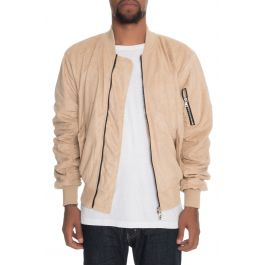 The Bird Bomber In Tan Suede by Lifted Anchors