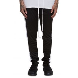 The Loungero Track Pants In Black And White by Crysp