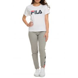 The Miss Eagle Tee In White, Navy And Chinese Red by Fila