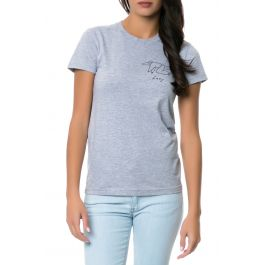 The Lazy Tee In Heather Grey by Charlene Man