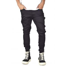 The Black Stacks Tapered Jeans In Black by Enslaved
