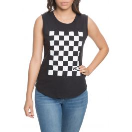 The Check You Out Tank In Black by Vans