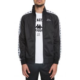 The 222 Banda Anniston Slim Jacket In Black And White by Kappa