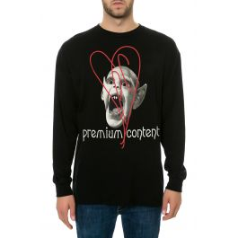 The Vampire Long Sleeve Tee In Black by Premium Content