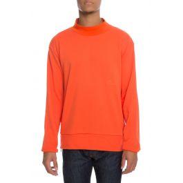 The Jackal Mock Crewneck In Safety Orange by Detache Labs
