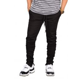 The Rich V. 4 Joggers W/ Ankle Zip In Black by Seize&Amp;Desist