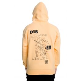 The Disassemble Hoodie In Orange by 10 Deep