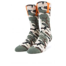 The Camo Classic H Socks In Wood Camo by Huf