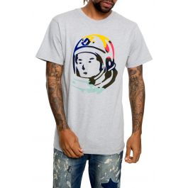The Bb Helmet Ss Tee In Heather Grey by Billionaire Boys Club