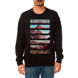 The 7 Wonders Crewneck Sweatshirt In Black by Street Vault