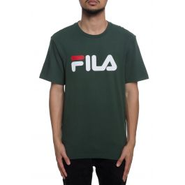 The Fila Logo Tee In Sycamore Green, White And Navy by Fila