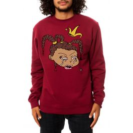 The Becca Crewneck Sweatshirt In Maroon by Dirty By S Jayy