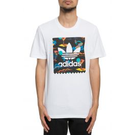 The Resort Tee In White by Adidas Skateboarding
