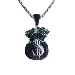 Black Money Bag Necklace by Roial