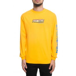 The Super Saiyan Goku Long Sleeve Tee In Gold by Primitive