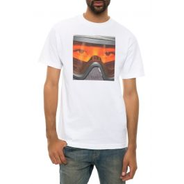 The Goggles Tee In White by Dirty By S Jayy