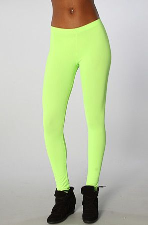 2566f5c3388f2 The Turnt Up Leggings in Neon Green