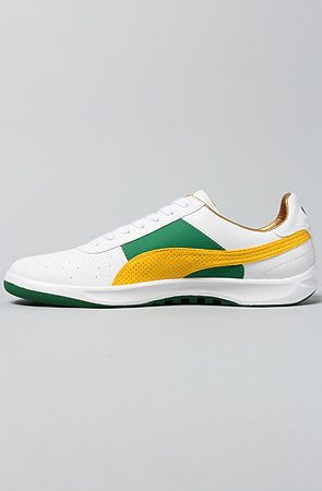 3d48ba438d784 The G. Vilas L2 Olympics Sneaker in White, Amazon, & Spectra Yellow