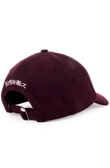 10 Deep Hat Night Rider s Melton Wool Dad Burgundy Purple 5c5296784807